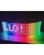 32x8 digital SK6812 programmable 256 pixels RGB LEDs panel display light