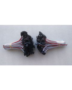 100 pairs of red green white 3-pin pigtail connector