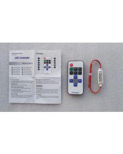 10 keys RF remote solo single color LED controller