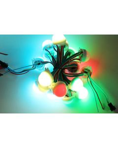 30mm A type waterproof 12V WS2801 LPD6803 RGB 5050 LED point light