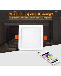 FUT064 Mi Light 9W RGB+CCT Square LED Downlight
