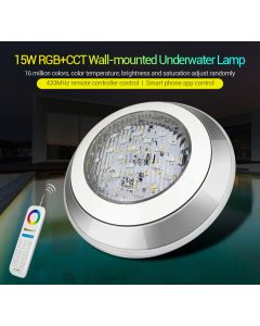 UW01 MiLight 15W RGB+CCT wall-mounted  underwater lamp