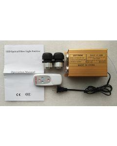 32W remote 2 holes RGB LED optic fiber engine
