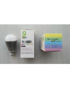 FUT016 Mi Light 9W 2.4GHz RF WiFi remote RGBW LED bulb
