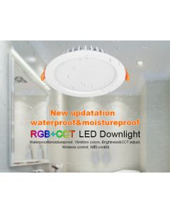 FUT069 IP54 Waterproof  Wireless Wifi 15W RGB+CCT LED Downlight
