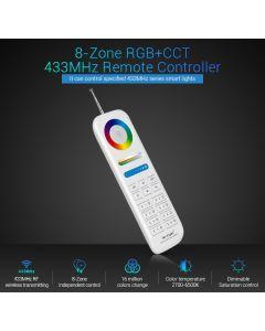 FUT086 MiLight 8-Zone RGB+CCT 433MHz wireless remote controller