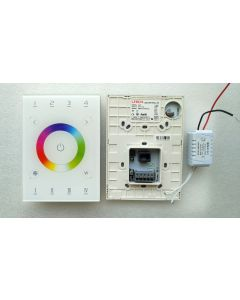 UX8 RGBW 4 zones DMX in-wall touch panel LED controller